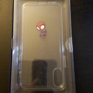 LiTech Marvel Spiderman iPhone X Clear Case